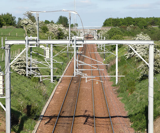 rail overhead line electrification