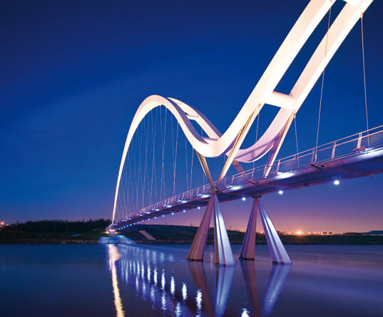 Picture of Infinity bridge in North East England