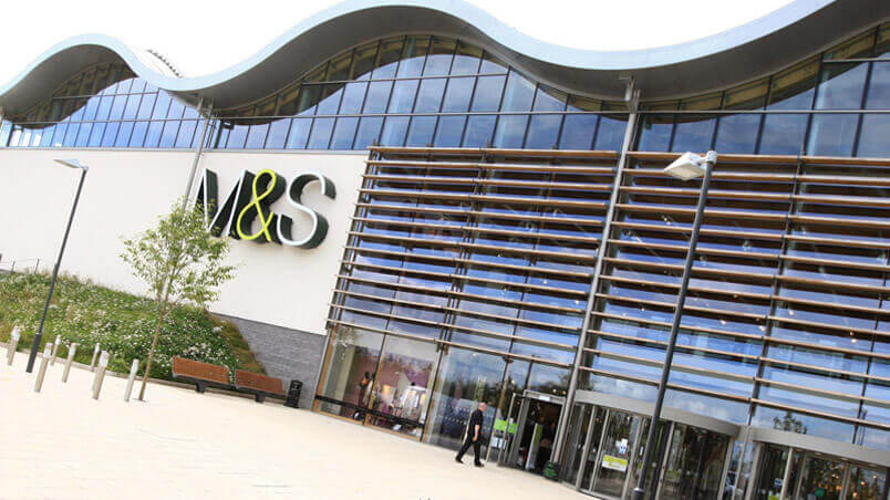 Picture of large M&S store