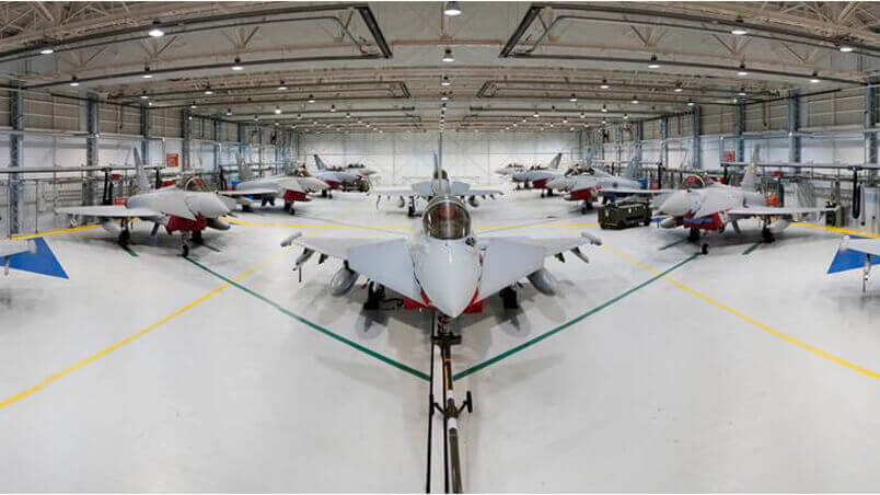 Picture of an aircraft hangar