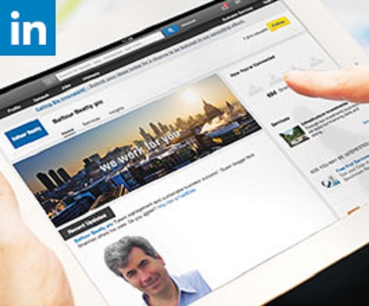 Balfour Beatty Linkedin page on a tablet