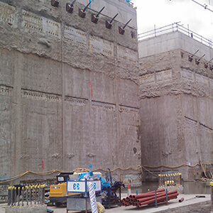 Picture of a diaphragm wall