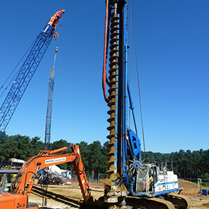 CFA piling works being undertaken
