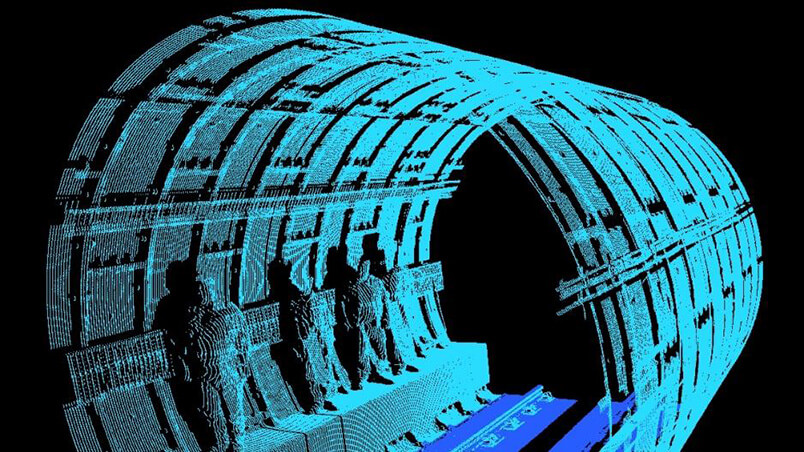 Laser scan of tunnel