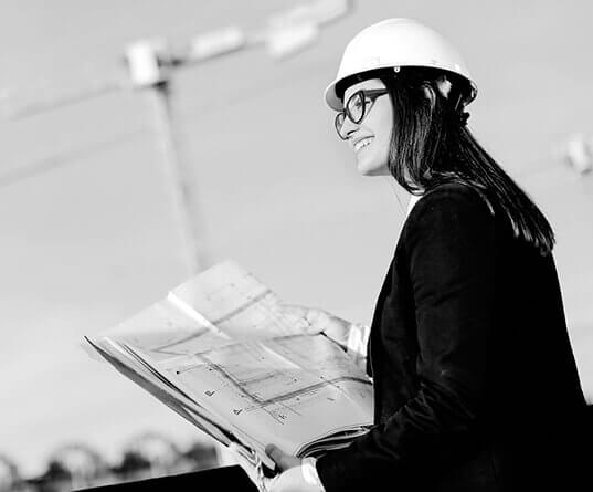 Woman on site