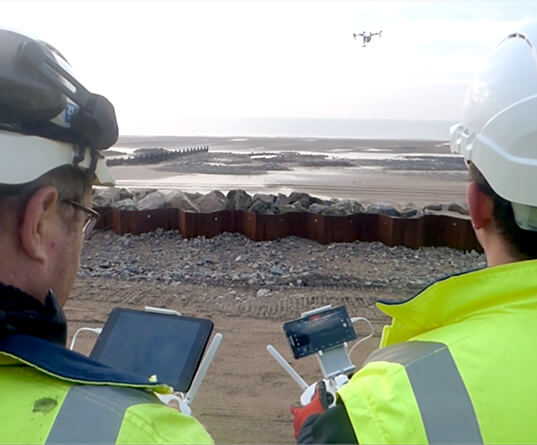 Drones used for surveying